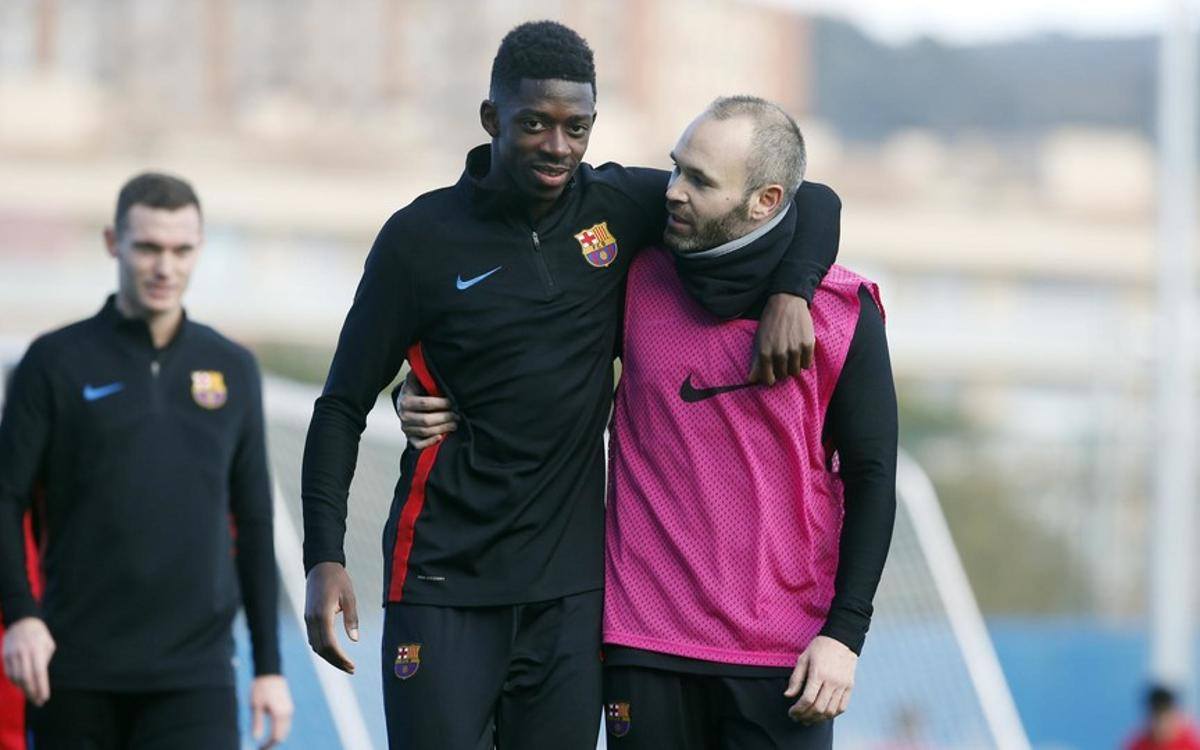 Dembélé out for three to four weeks