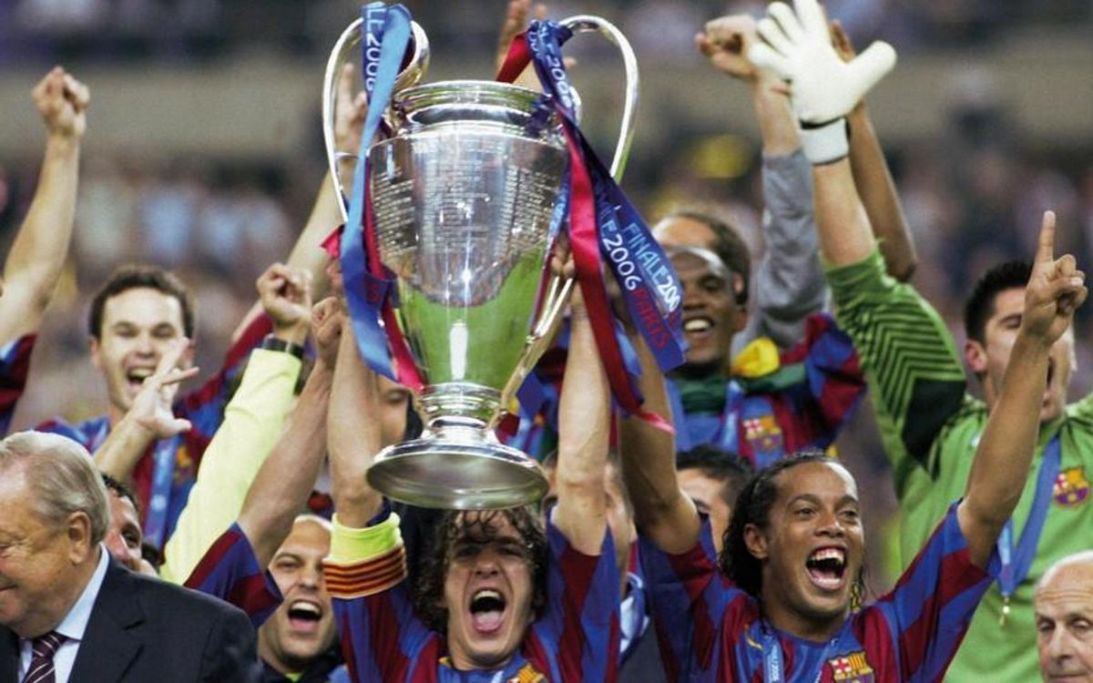 Puyol aixeca la segona Champions League, que es va guanyar a París