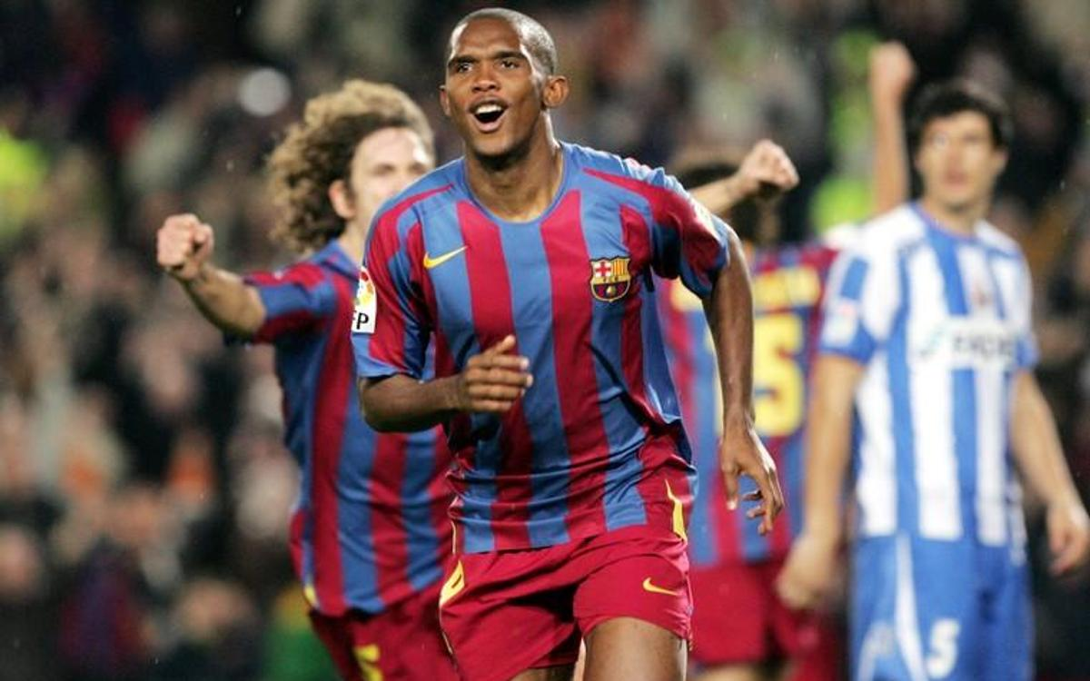 Image result for Samuel Eto'o barcelona