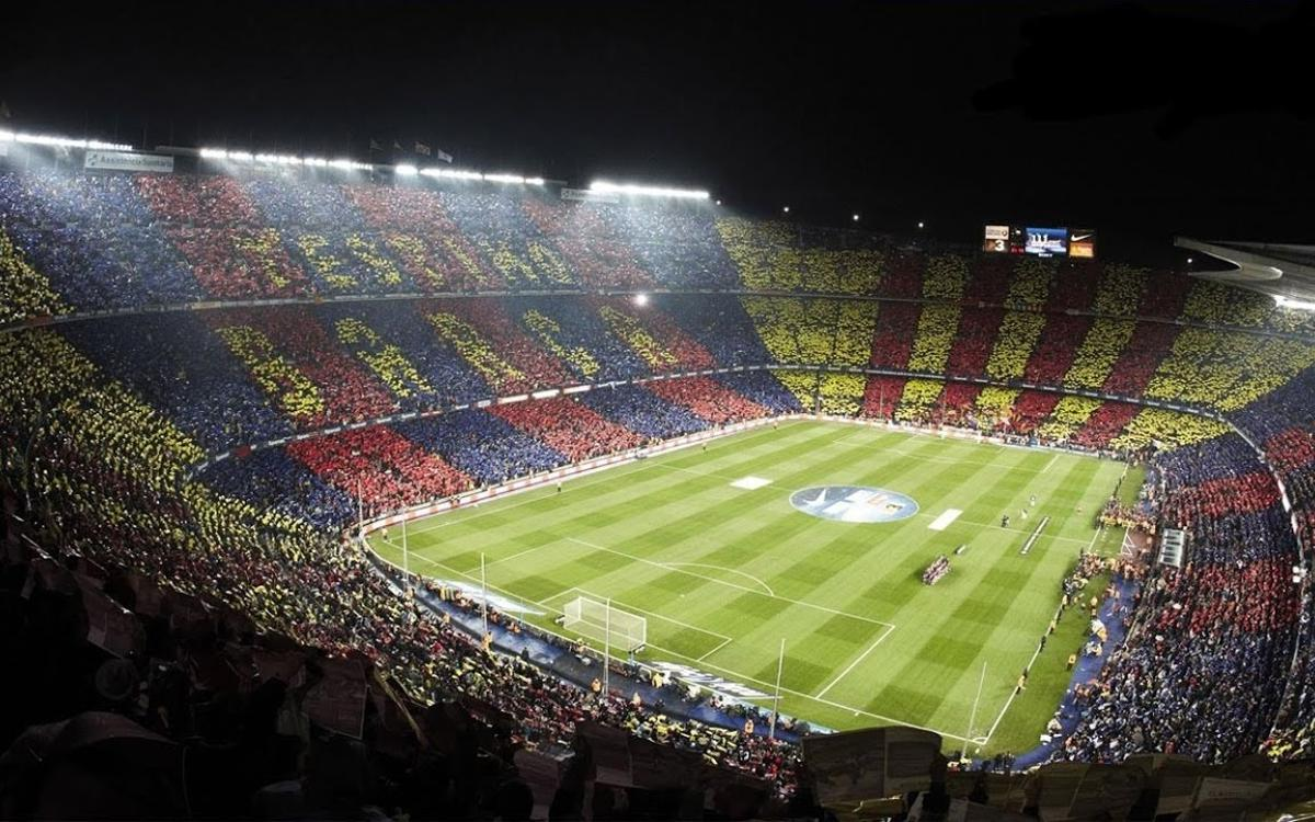 Camp Nou during a Clásico against Real Madrid