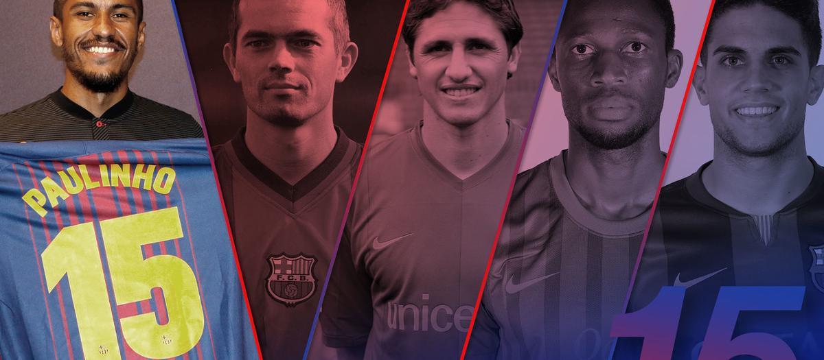 Paulinho, Barcelona's new number 15