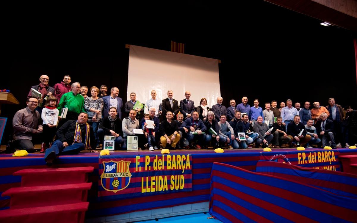 Bellpuig viu la XII Trobada de Penyes Barcelonistes de Lleida Sud i la Franja