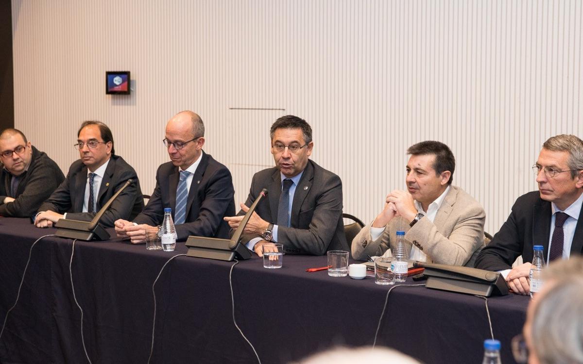 Bartomeu assisteix al darrer plenari de la Confederació Mundial de Penyes