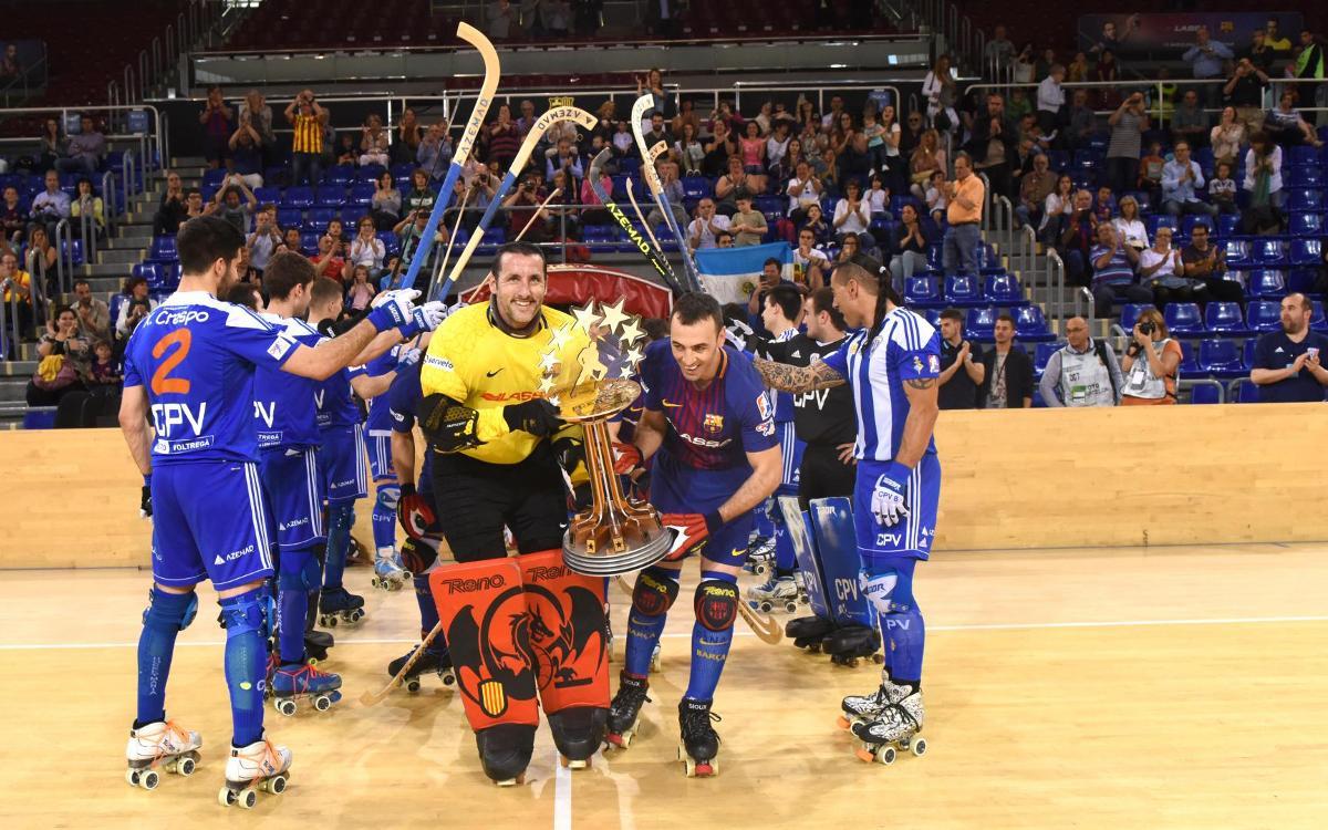 Barça Lassa - Voltregà: Empat i festa blaugrana al Palau (5-5)