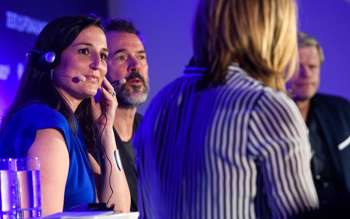 Maria Teixidor, present en un acte del prestigiós diari alemany 'Die Zeit'