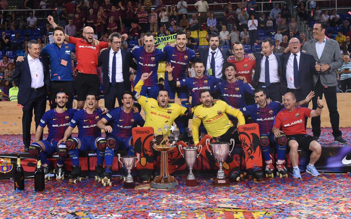 El Barça Lassa acaba la temporada en la primera posició del rànquing mundial d'equips d'hoquei patins