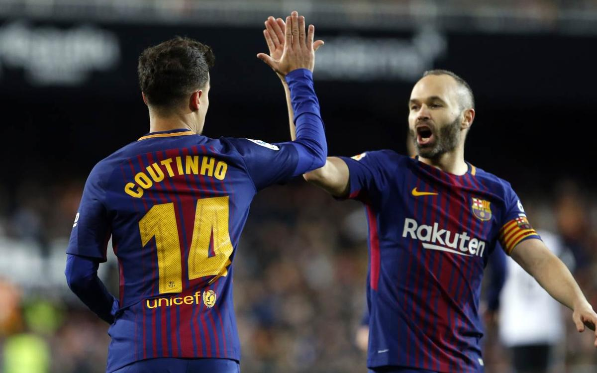 Coutinho: I have tried to learn as much as I can from Iniesta