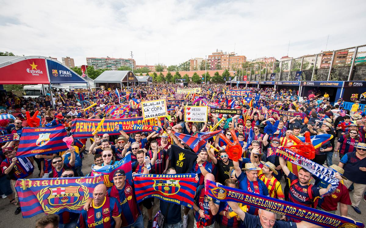 Les penyes van conquerir Madrid per la Final de la Copa del Rei