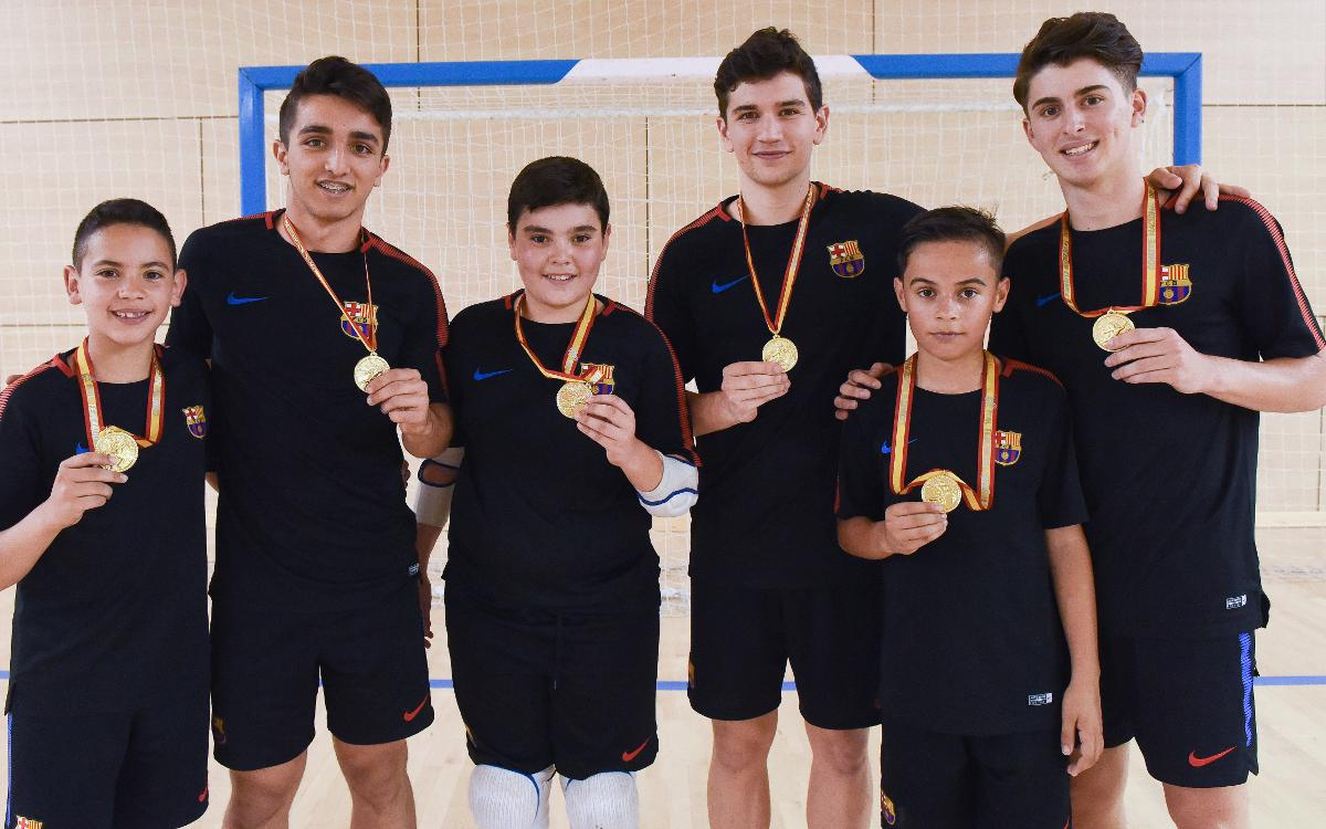 Los azulgranas campeones con Cataluña