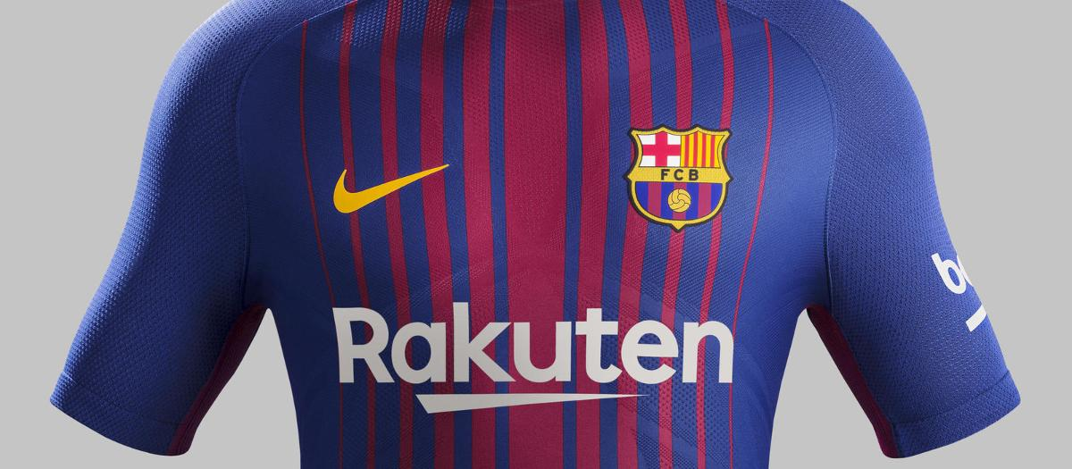 The new Nike shirt for FC Barcelona for 2017-18