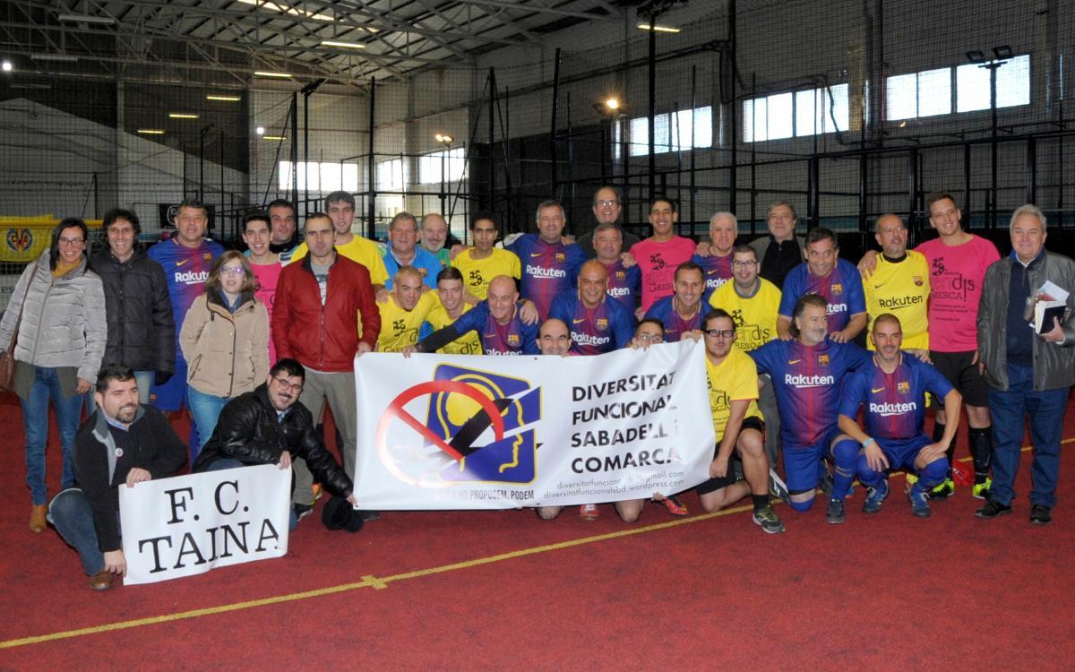 Nova col·laboració de l'Agrupació amb el FC Taina per donar suport al futbol inclusiu