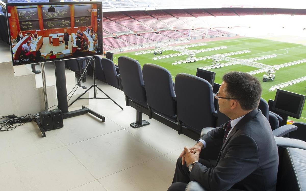 Harvard invite Josep Maria Bartomeu to explain Barça's social commitment
