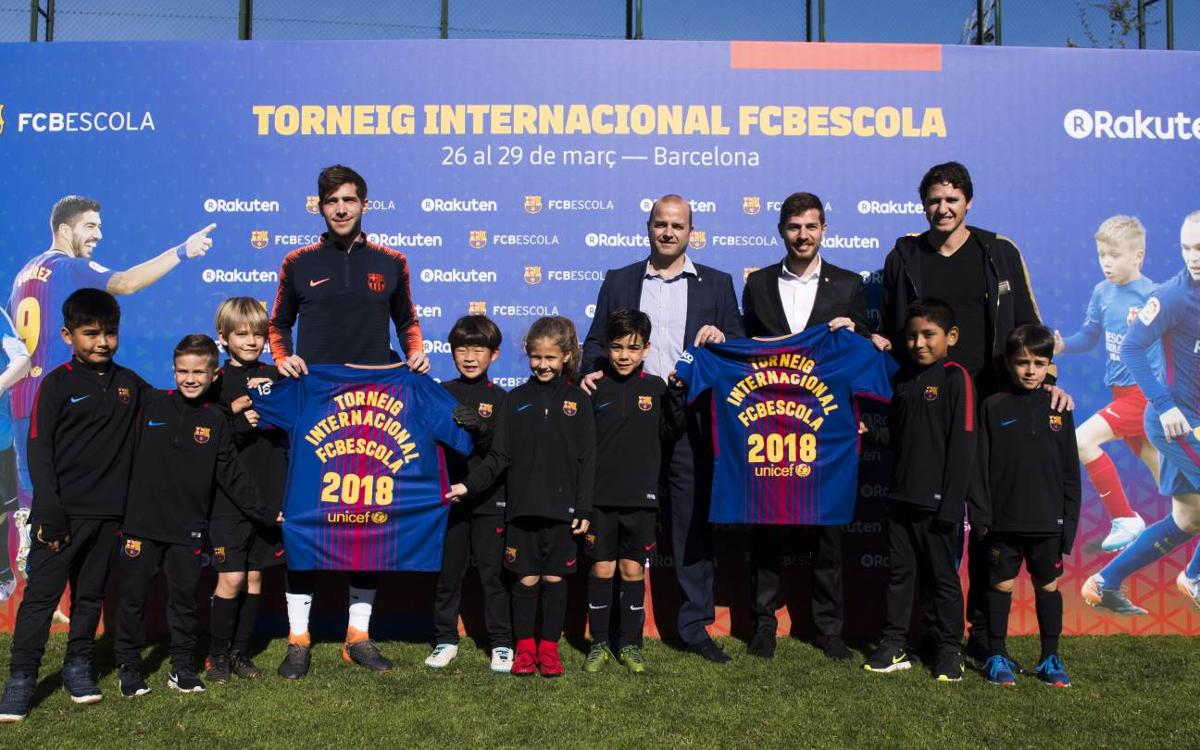 Presentation of biggest FCBEscola International Tournament of all time