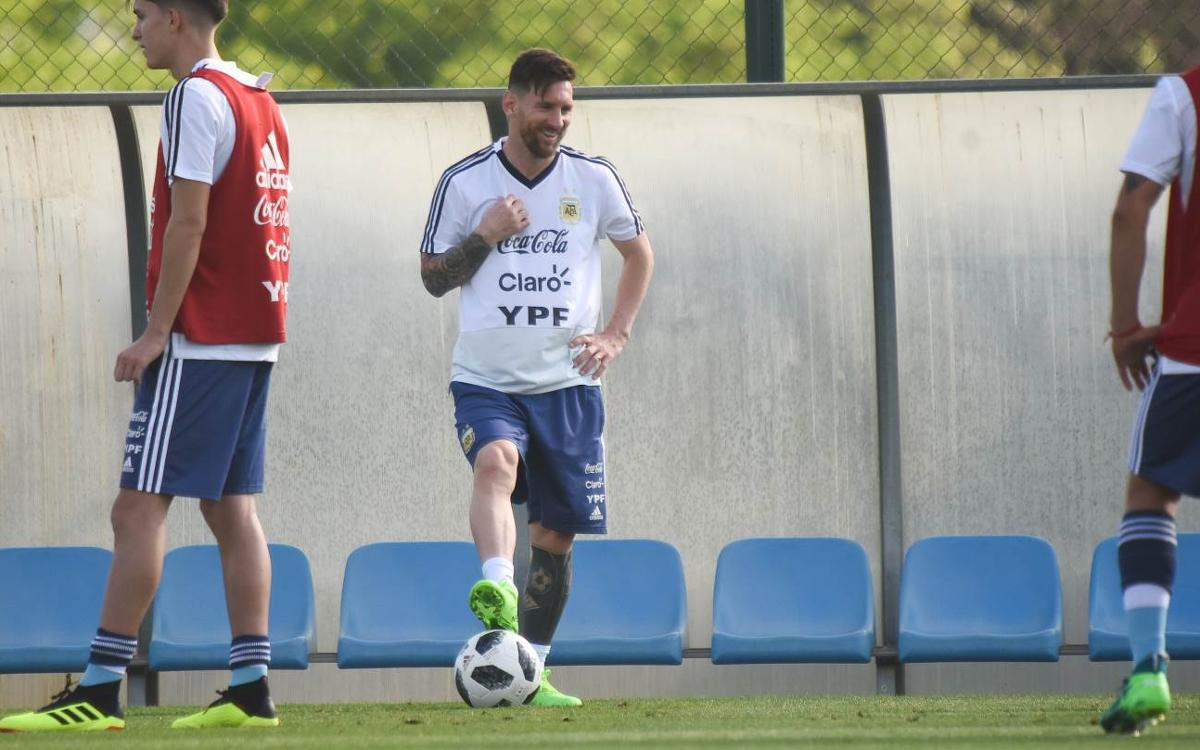 A double training session for Argentina at the Ciutat Esportiva Joan Gamper