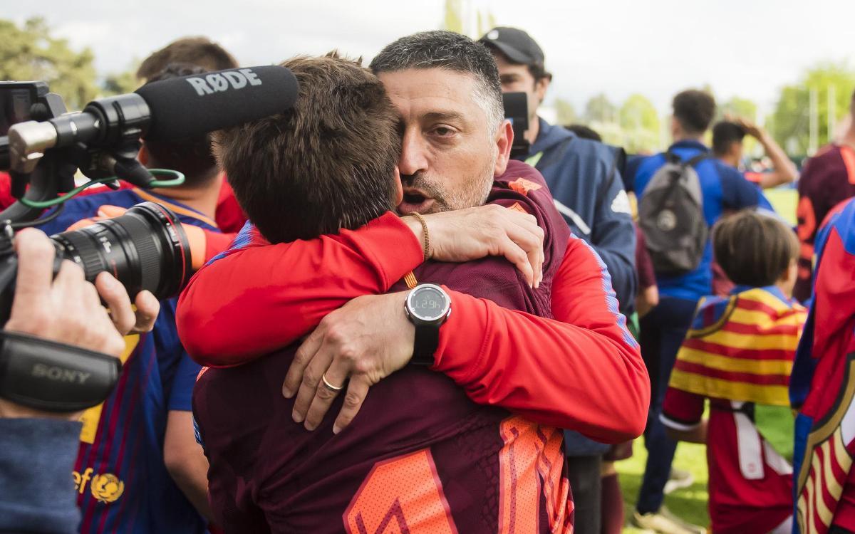 Así motivó García Pimienta al Juvenil A para levantar la UEFA Youth League