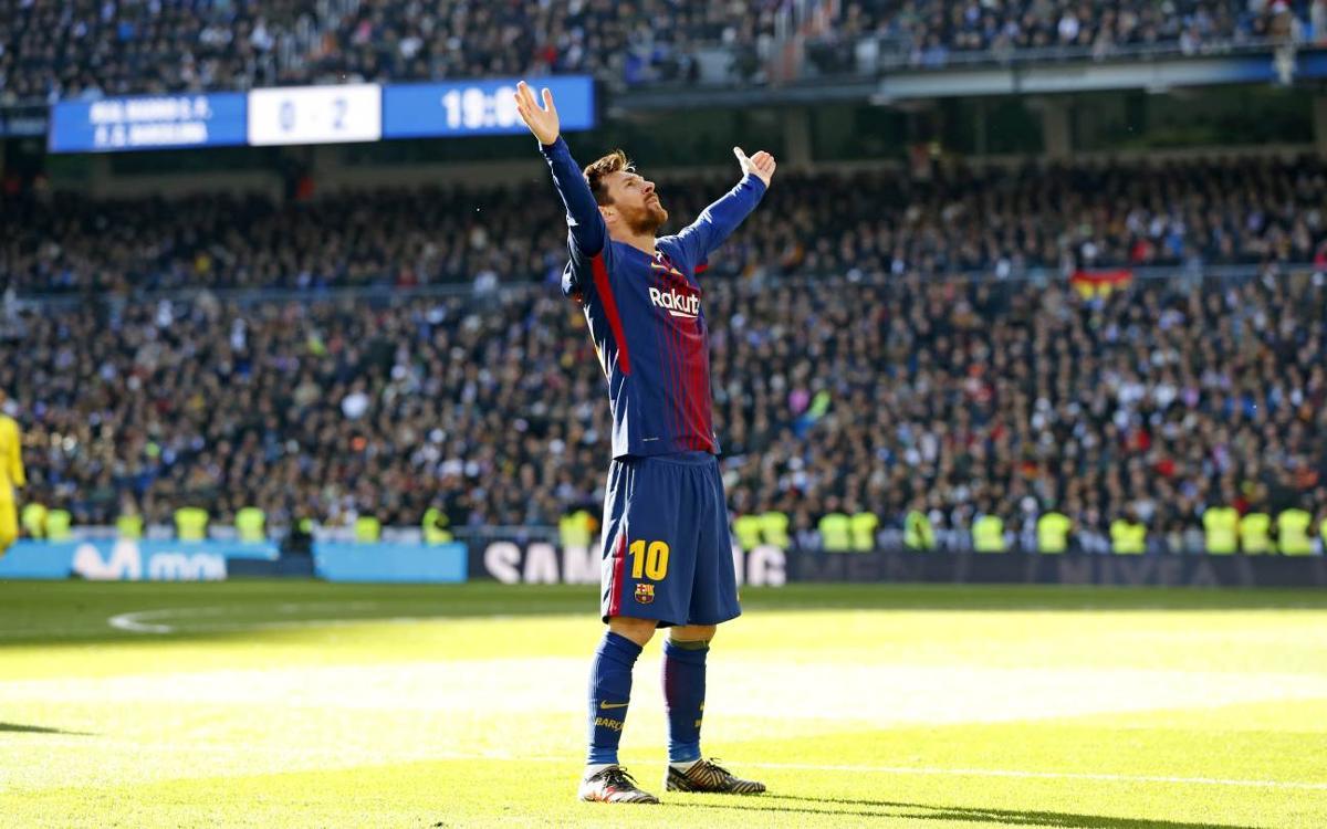 El Bernabéu se tiñe de azulgrana por Navidad