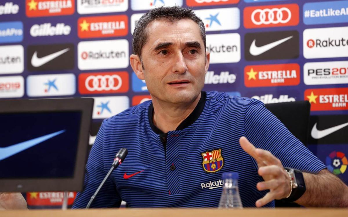 Ernesto Valverde: 'We want to maintain our level of play'