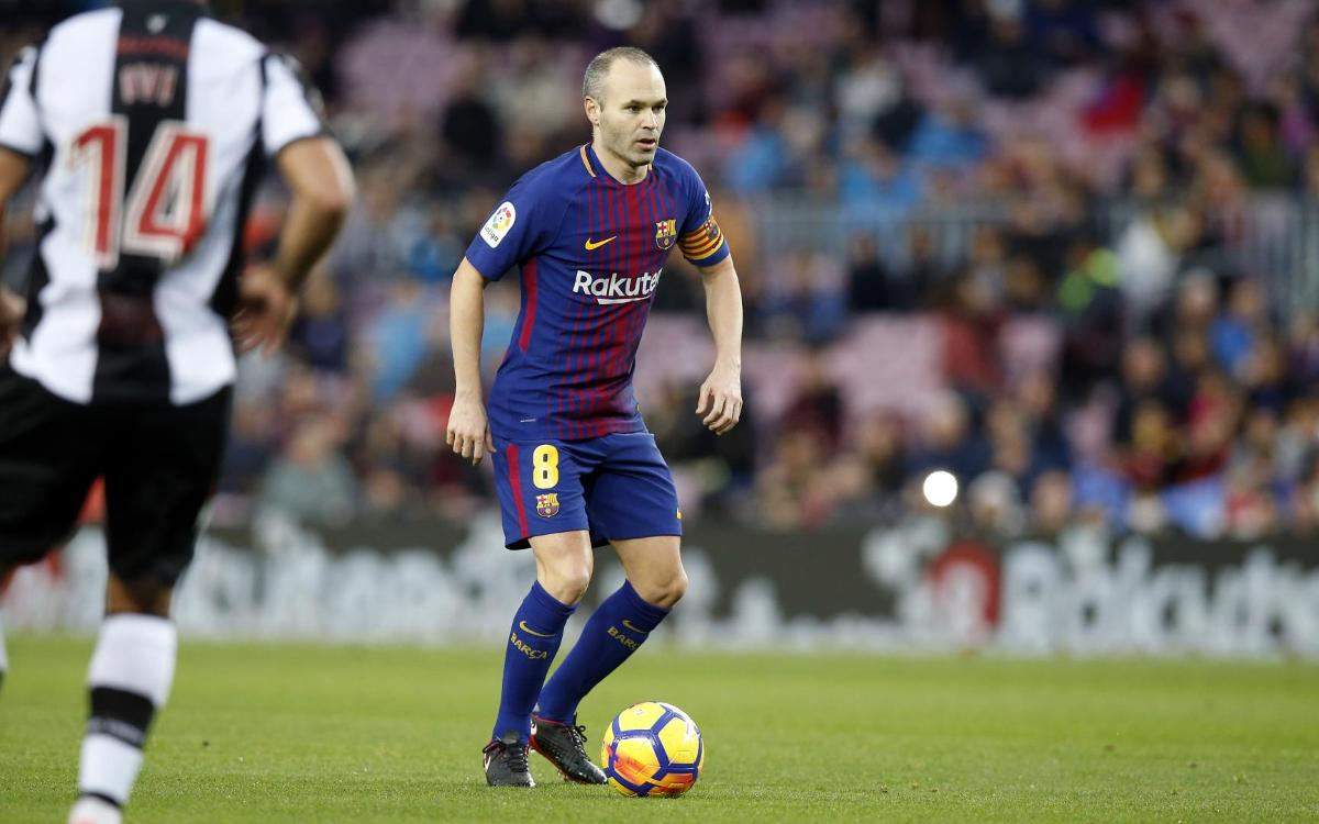Levante: Victims of Andrés Iniesta's first ever goal for FC Barcelona