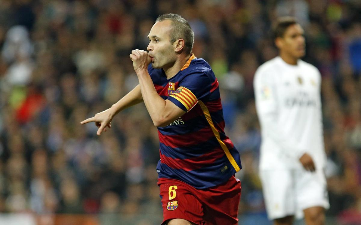 The magic of Iniesta in the Clásico
