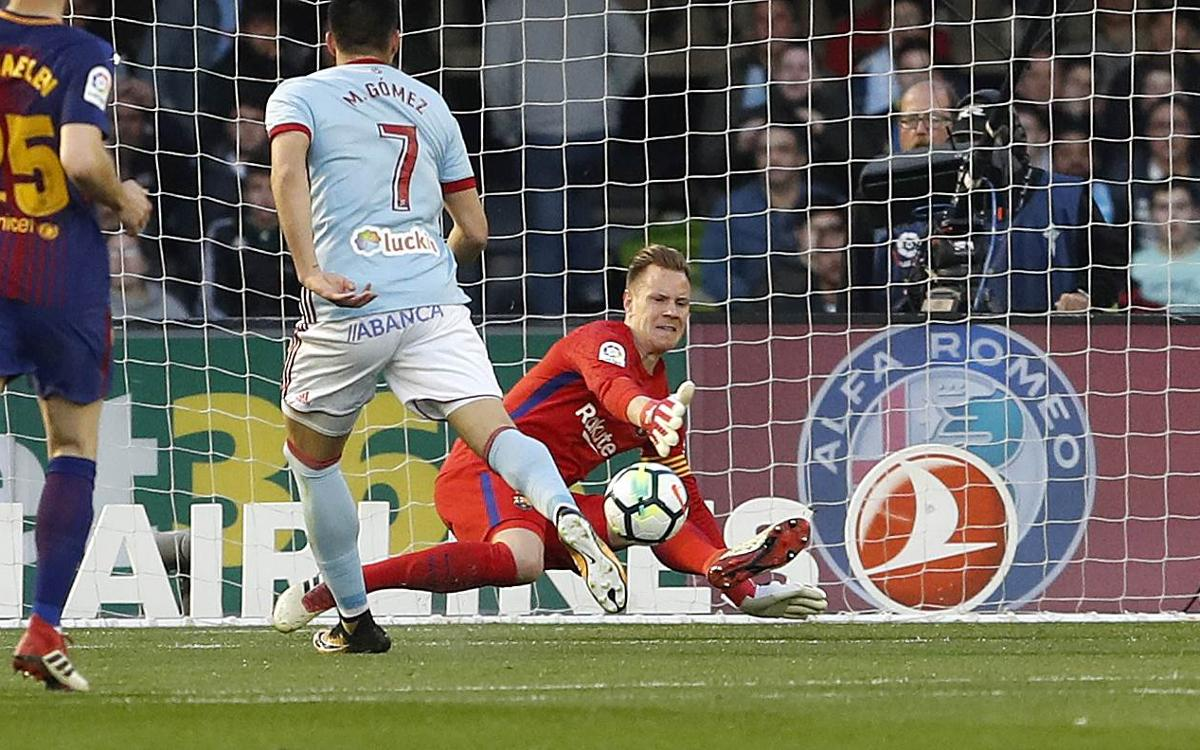 Another exhibition by Ter Stegen between the posts