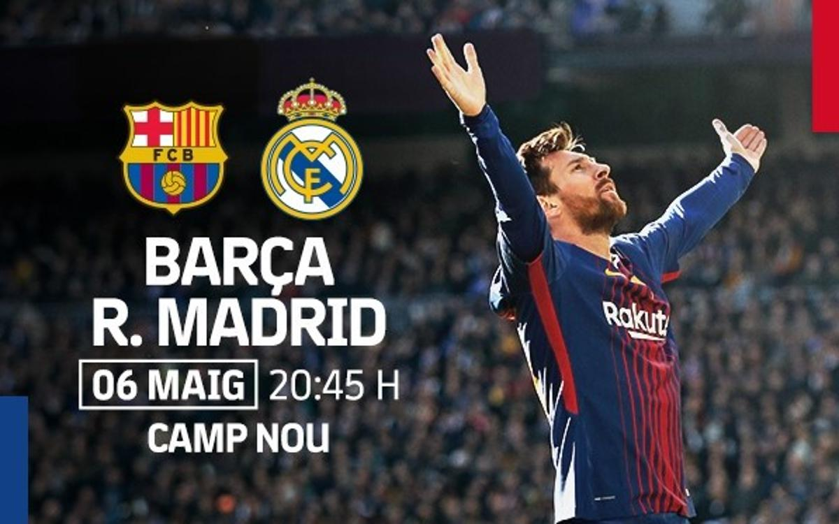 Pre-sale of tickets for FC Barcelona v Real Madrid for members without season tickets