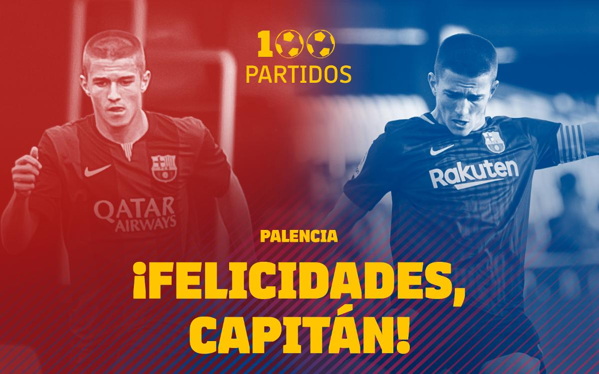 Palencia llega a 100 partidos con el Barça B