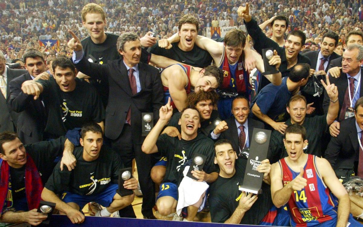 Se cumplen 15 años de la primera Euroliga del Barça de baloncesto