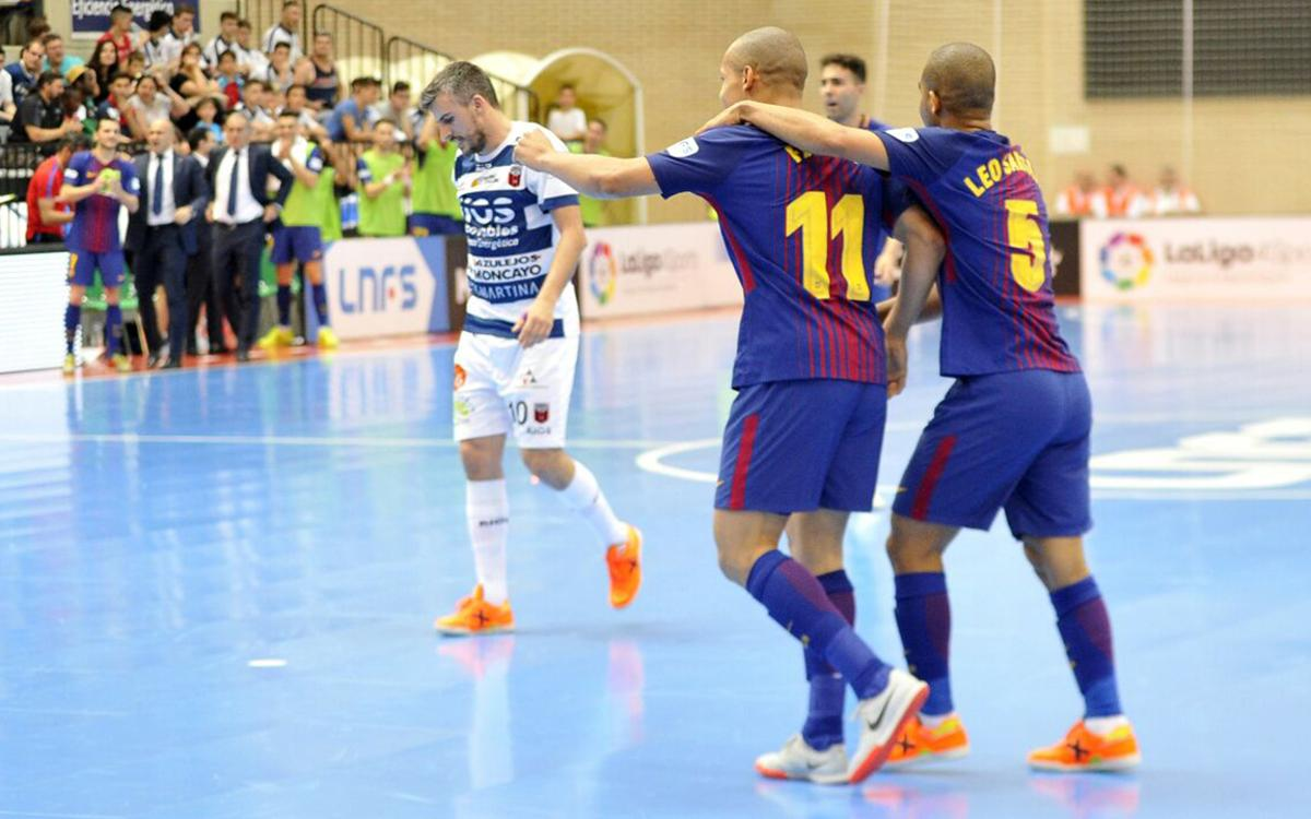 Ríos Renovables Zaragoza - FC Barcelona Lassa: The first point is blaugrana (1-4)