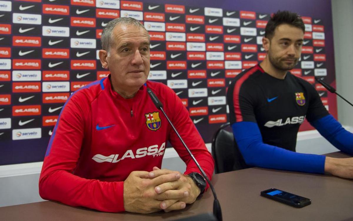 """Andreu Plaza: """"Tenim tota la confiança i la il·lusió del món per afrontar la Final"""""""