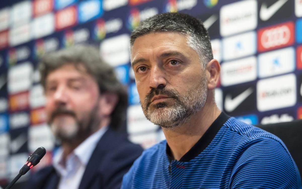 Garcia Pimienta: 'I believe strongly in the Barça way of playing'