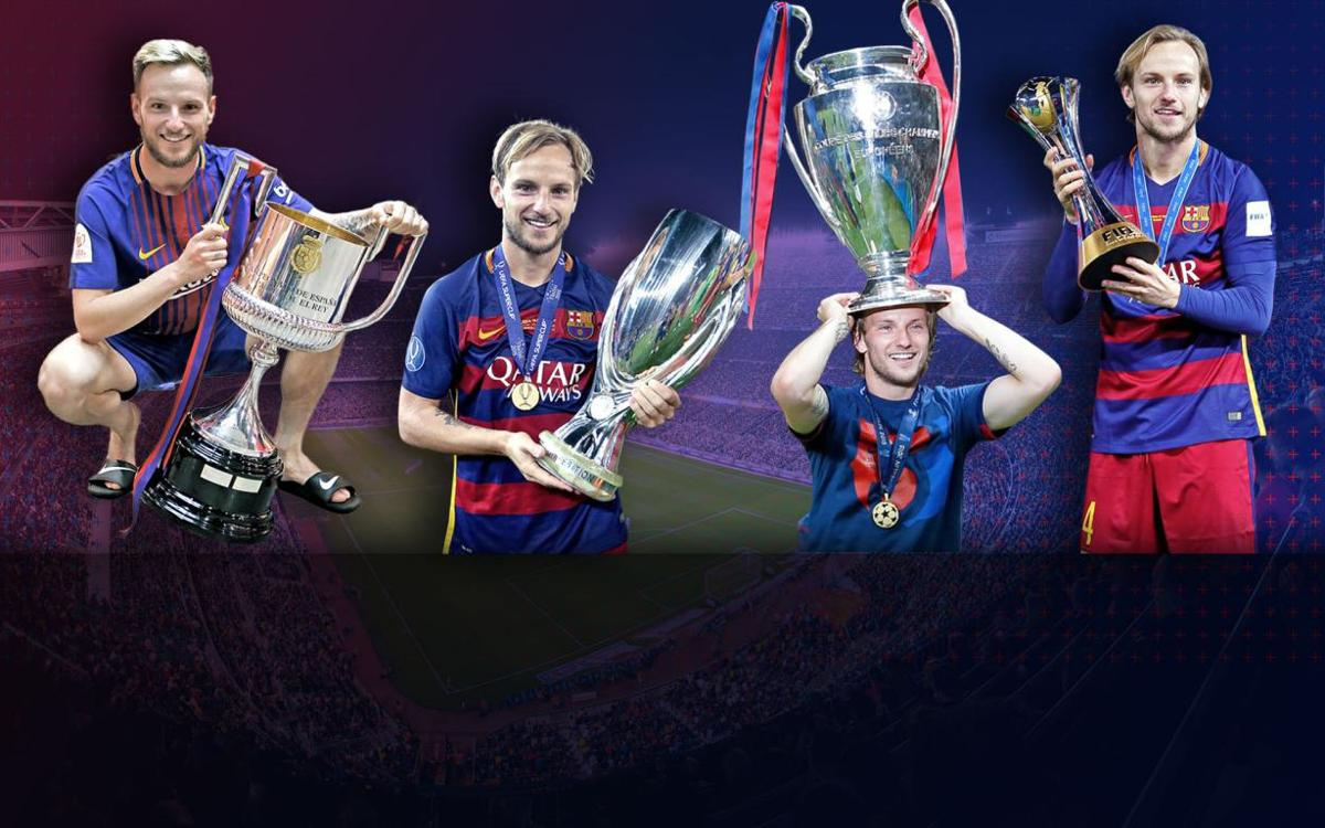 Ivan Rakitic, Barça's all-time leader in single-game finals played without having lost