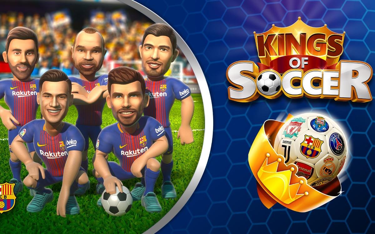 Coach Barça to success with the new mobile video game 'Kings of Soccer'