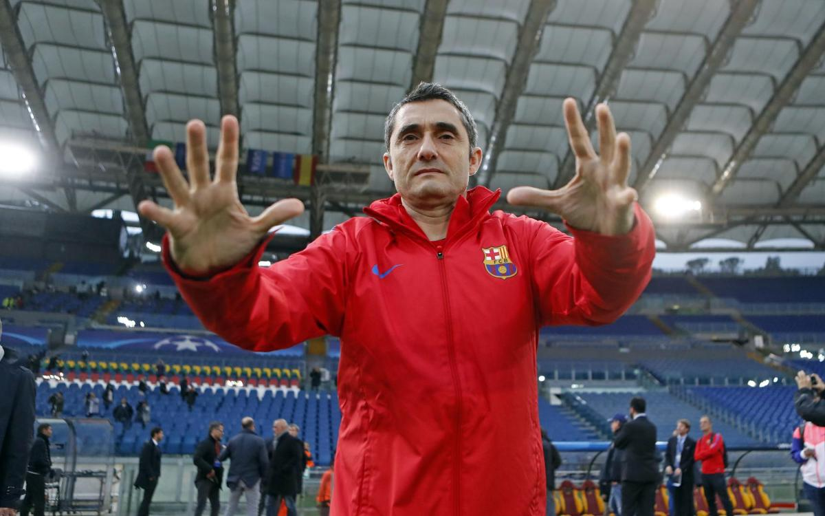 Las 12 horas del Barça en Roma