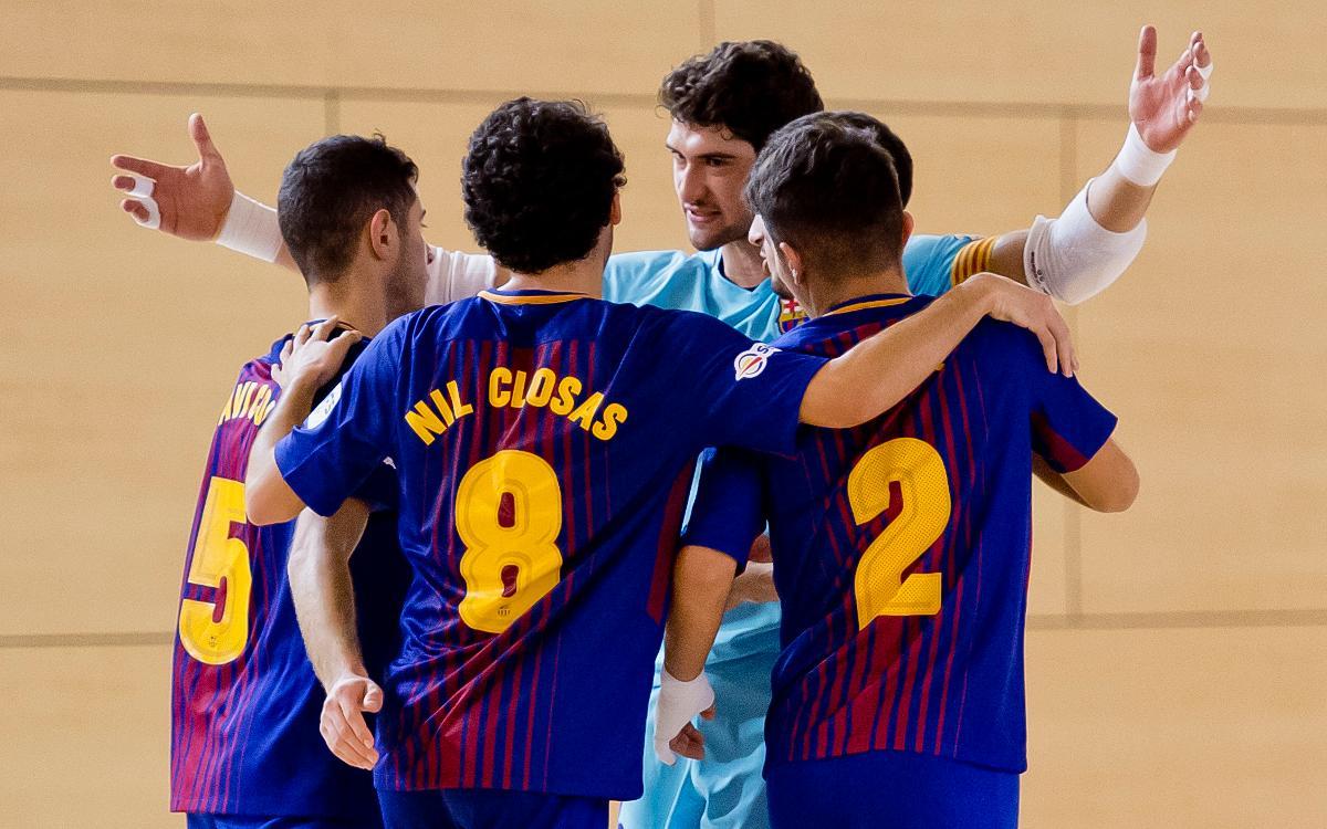 El Barça Lassa B, equipo más deportivo de la 2ª División de la LNFS