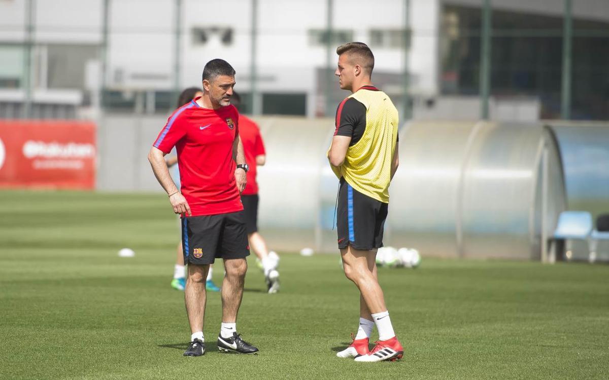 García Pimienta ya dirige al Barça B 4a3a0e826d3