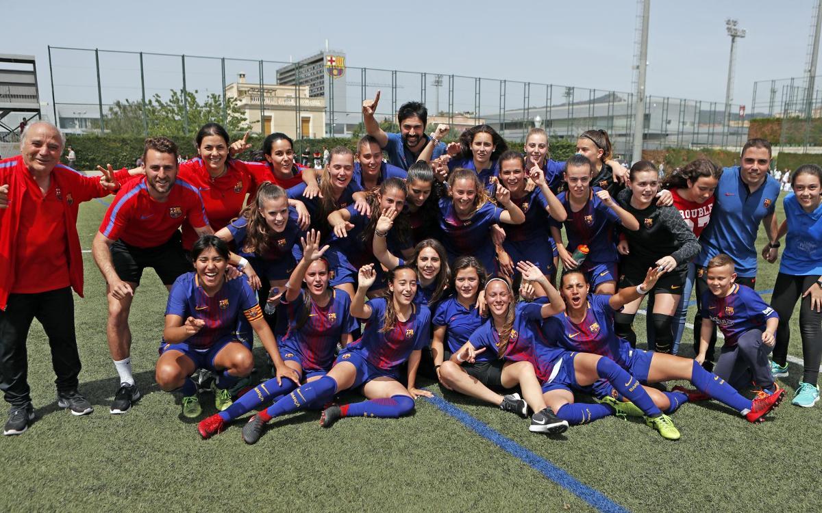 El Barça Femení B, campió de Segona Divisió
