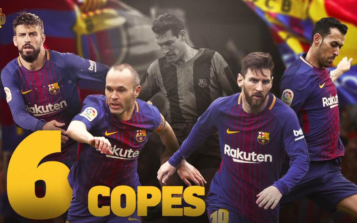 Iniesta, Messi, Sergio i Piqué igualen les sis Copes de Segarra