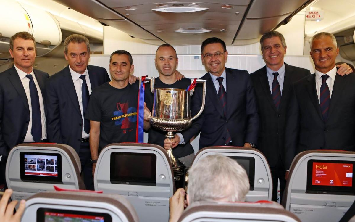 El viaje de vuelta de los campeones de Copa