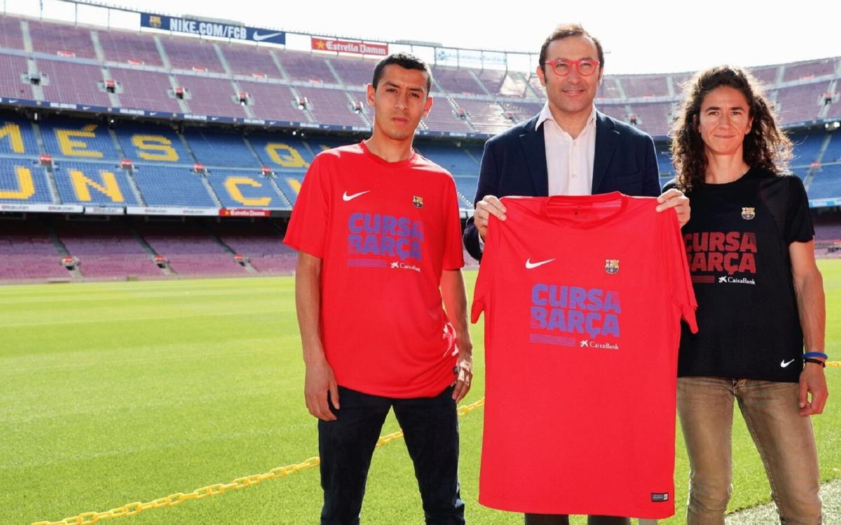 Presentada la camiseta Nike de la Cursa Barça CaixaBank 2018