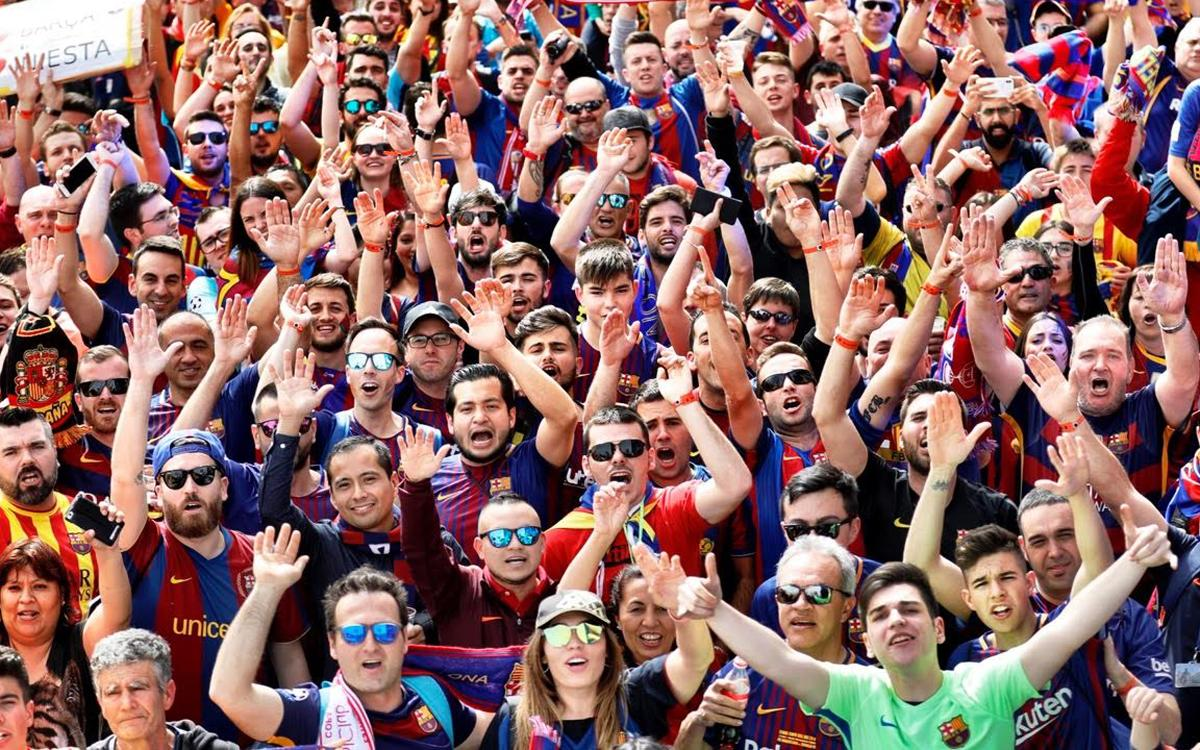 Fun and games at the FC Barcelona Fan Zone in Madrid