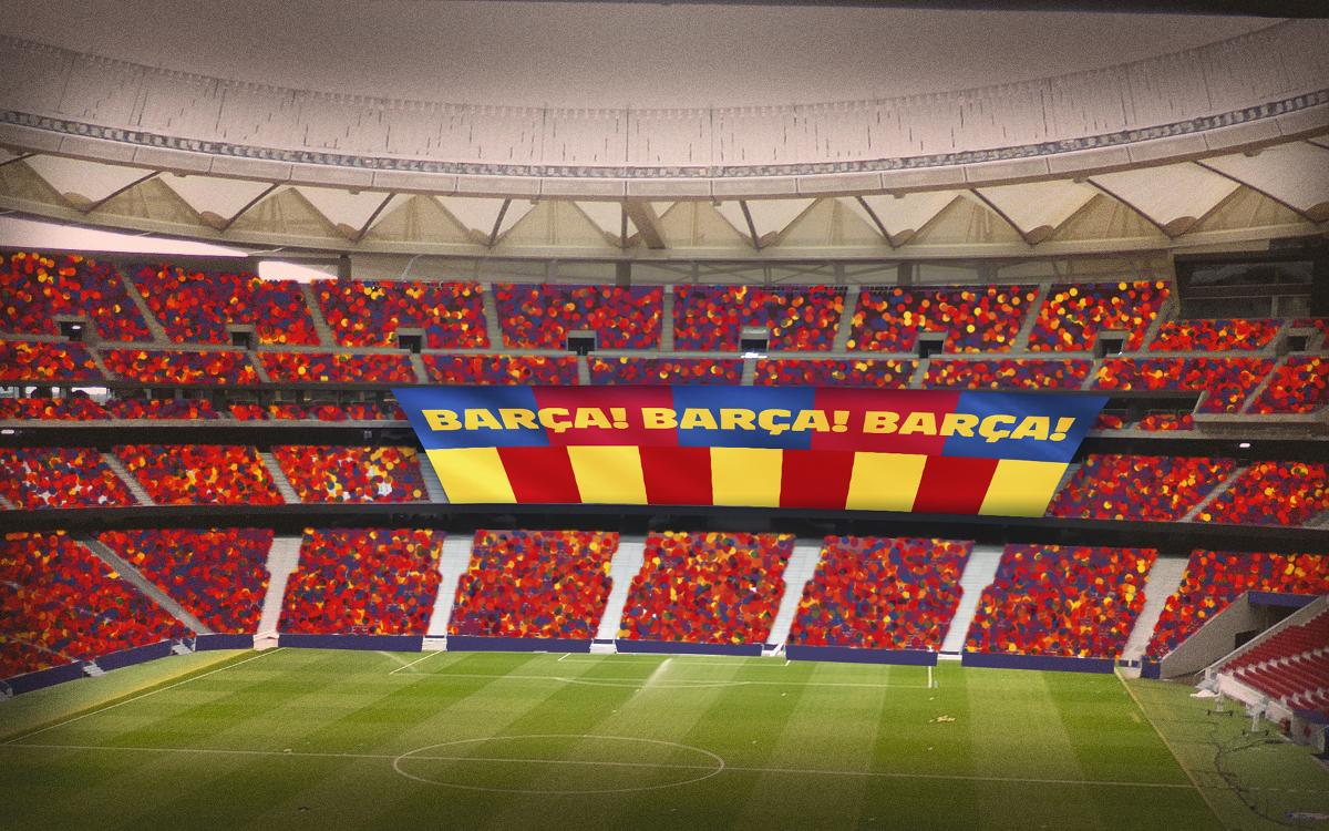 FC Barcelona announce special 'tifo' banner for Copa del Rey final
