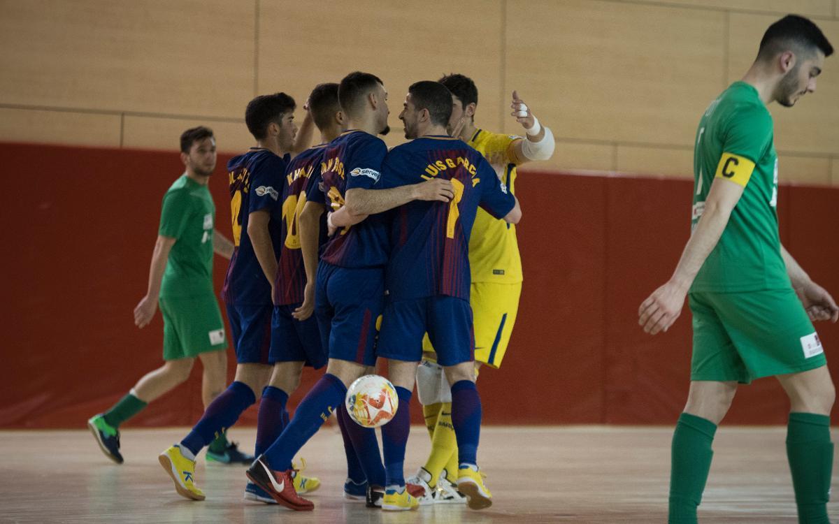 Barça Lassa B – Prone Lugo (6-0): Triomf en el darrer partit a casa