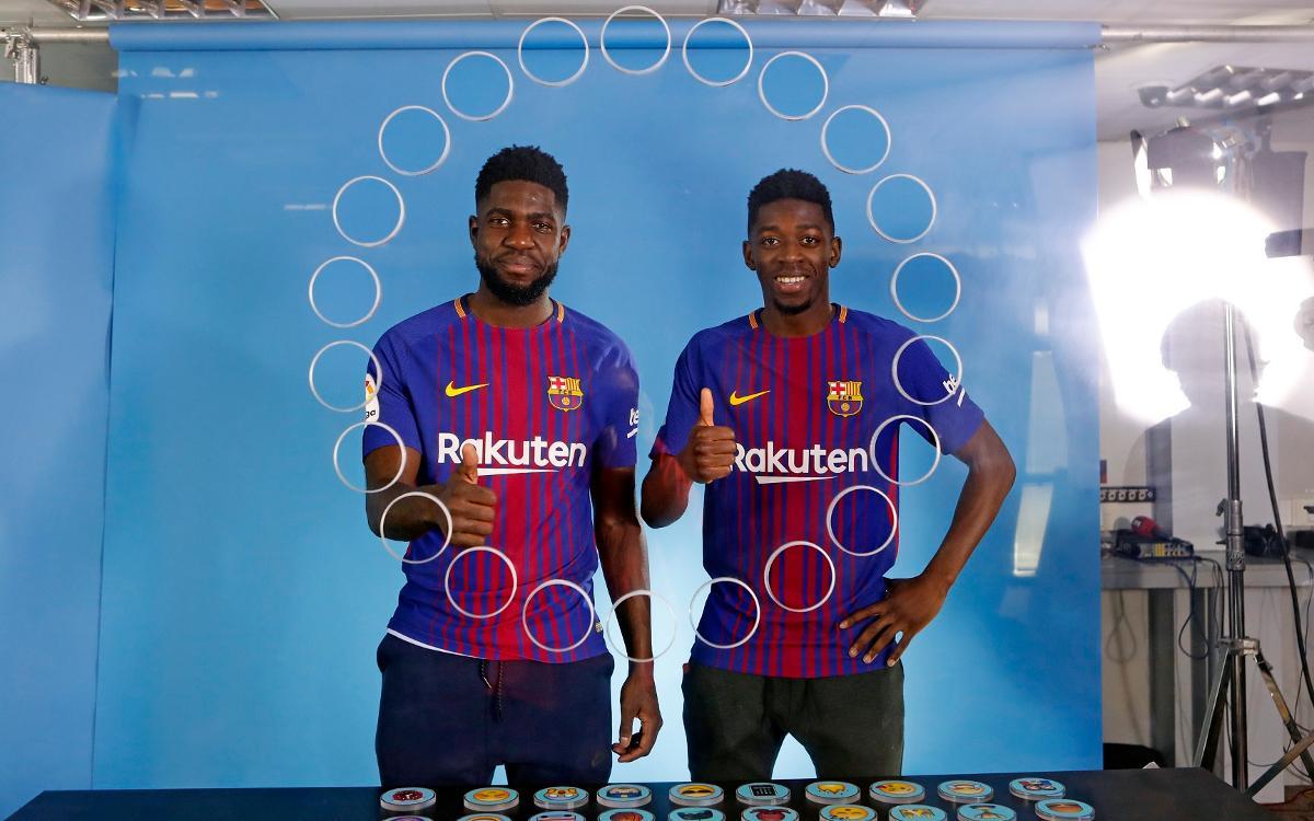 Barça Emoji: Umtiti y Dembélé