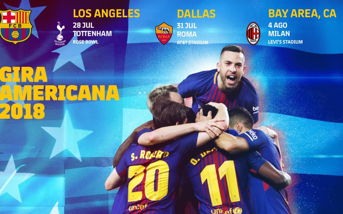 Tottenham, Roma y Milan, rivales en la gira americana