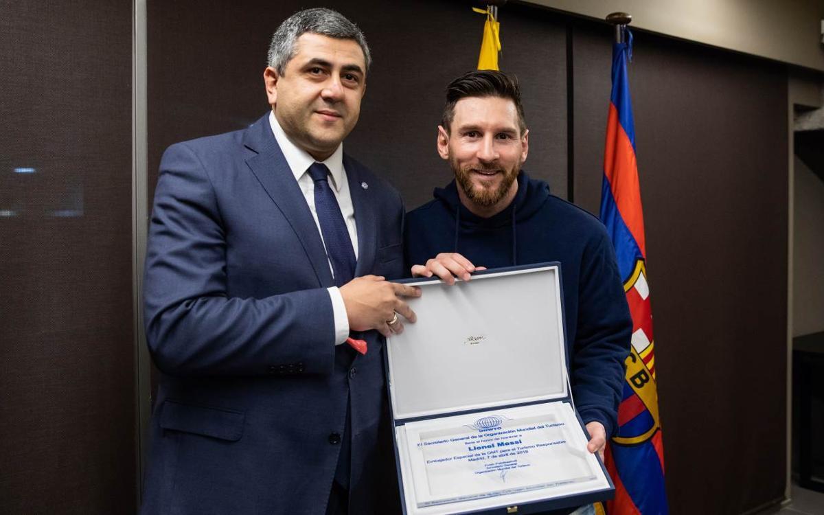 Leo Messi, nuevo Embajador de Turismo Responsable de la Organización Mundial de Turismo