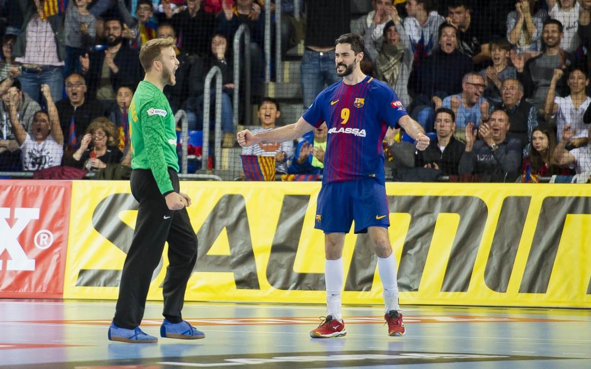 Tres blaugranes a l'Equip Ideal de la Lliga Asobal 2017/18