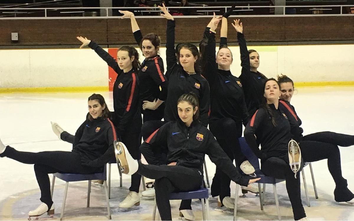 L'equip de ballet de la secció de patinatge a punt per a la Copa de Tolosa 2018