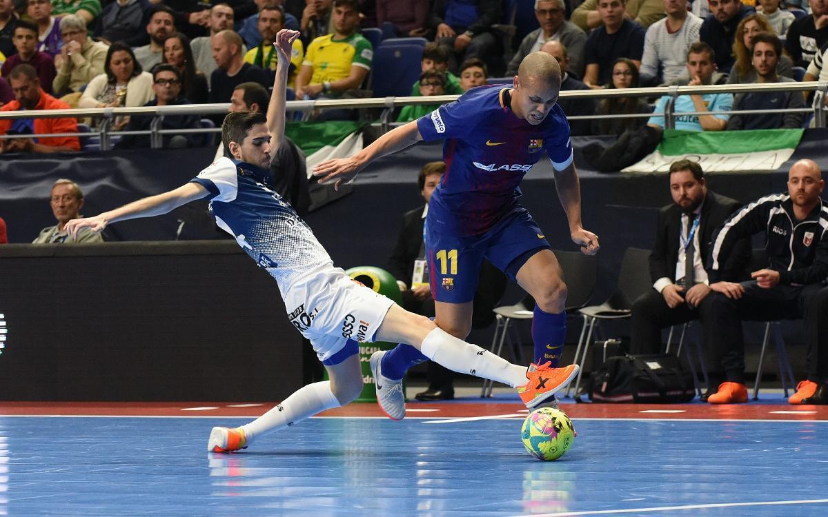 Barça Lassa - Ríos Renovables Saragossa: Els penals condemnen els blaugranes (1-1, 1-3)