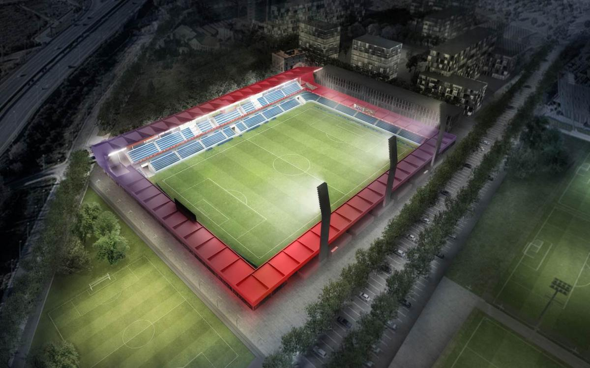 The new Estadi Johan Cruyff