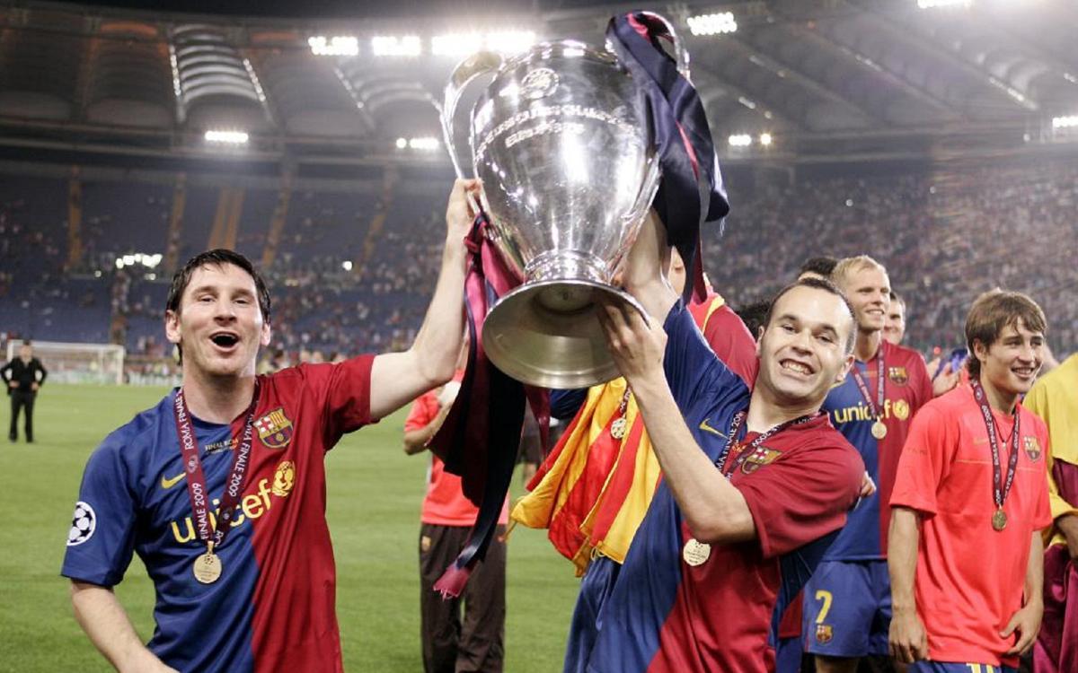 Messi e Iniesta, a un partido de los 100 en Champions juntos